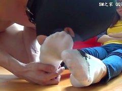 à pied - fetish fille de - de - la fille le pied - léchant orteil succion