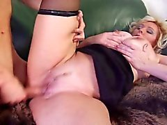 Awesome Blonde Huge-Boobs-MILF fucked by young Guy