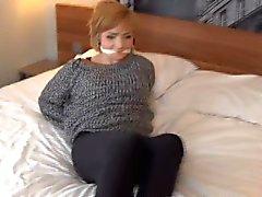 Teen Vixen bound and gagged by intruder