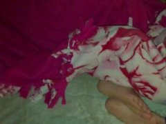 Sleeping cousin soles rub
