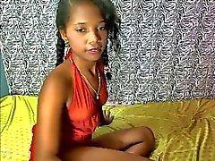 zwart en ebony braziliaans latijn tieners