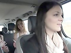 Teen besties hitchhikes and get pounded by stranger dude