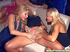 Savannah Holly Amanda and Kayla have orgy