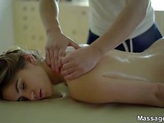 Sex on a folding massage table