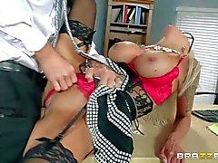 Big titted MILF boss Nina Elle needs dick badly