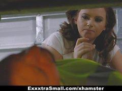 ExxxtraSmall - Teen Fucks Fathers Mechanic
