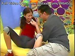 genç esmer pigtailed oral seks