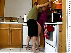 Mom Lets Son Lift Her and Grind Her Hot Ass Until He Cums