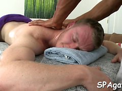 Explicit anal fucking for fashionable boy during massage