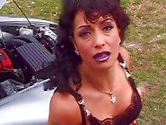 sexo anal grandes mamas branco de cabelos carro gozada