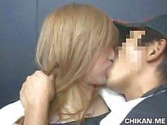 Schoolgirl groped by Stranger in an elevator