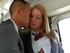 asiatique interracial nudité en public
