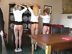 Schoolgirls Spanked Hard