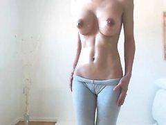 Dildo toy masturbation and boobs show