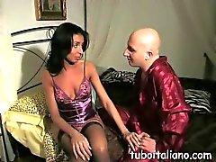 Italian babe loves the taste of her mans dick