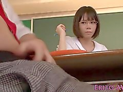 Cute squirting asian schoolgirl Yui Tsubaki