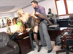 Blonde wants to please her boss