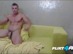 Two Hunks Fuck Bareback and Play With Each Other's Assholes