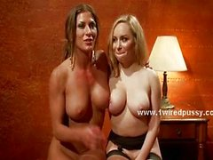 Blonde angry lesbian punishing slut