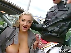 Eurobabe Cherlyn flashes her huge tits