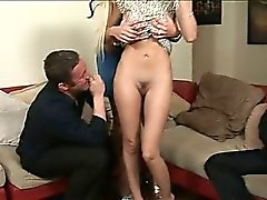 Since the first couple-fuck left a bad taste in his mouth, jealous Jack is back to swap out his new wife of 3 months. Puma, a tall blond Swedish sex pot, seems a little too excited to gulp and grind on Steven's hard cock. Maybe Shy's tasty cookie can cure