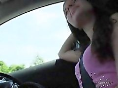 Stranded teen Anita B ripped by stranger dude in the car