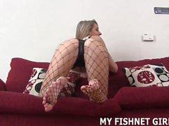 I heard you have a little fishnet fetish JOI