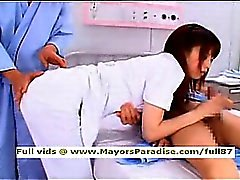 Akiho Yoshizawa smart naughty Asian nurse likes to do blowjob