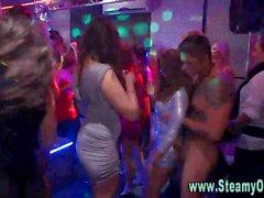 Party girls suck stripper cock
