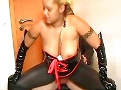 Very busty amateur Milf domination fuck with cum