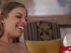 Feet loving Kenzie Reeves licked widly by stunning stepmom
