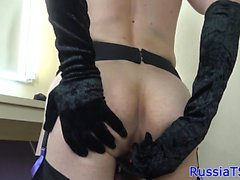 Natural russian tgirl sensually jerksoff