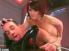 Eva Lin and her bound slave