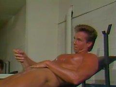 Peter North 80's Workout & Self Facial