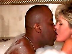 Wife in hottub with two black lovers