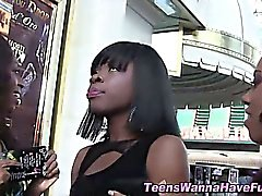 Real black whore kissing and seducing