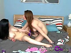 StrapOn Samantha Bentley and Lucia Love