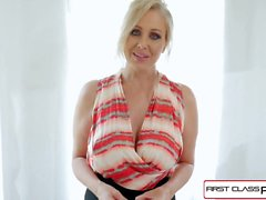 First Class POV - Enjoy Julia Ann sucking a big fat dick