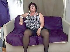 french bbw 65yo granny olga fucked by 2 men - dp