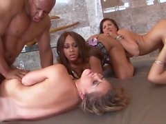 Great Orgy Interracial with Asian Girls. P.2