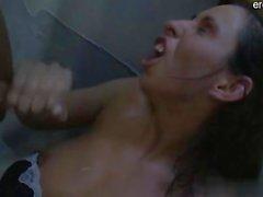 Sexy pornstar cum between tits