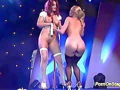 lesbian pornshow on public stage