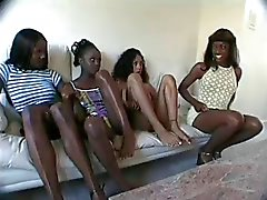 4 shades of chocolate women and 1 lucky sum bitch