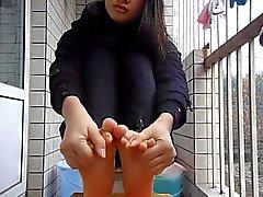 asiatique chinois fétichisme des pieds