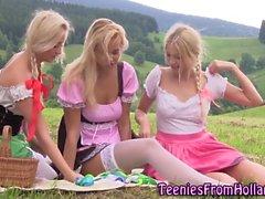 dedilhado hd lésbica ao ar livre