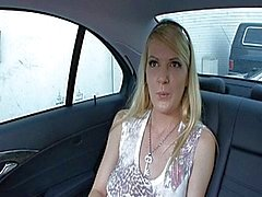 Anita Blue sells her pussy in a car