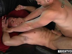 Hot gay bareback with cumshot