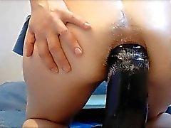 Giant dildo fuck