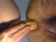 Double ended anal dong my wife and me