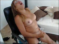 sexy chubby tranny cum explode